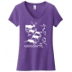 Carnivore Cave Painting Ladies V-Neck