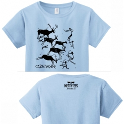 Carnivore Cave Painting Ladies Tee