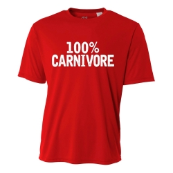 100% Carnivore Mens Performance Tee