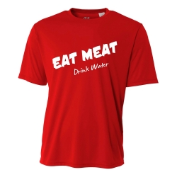 Eat Meat Drink Water Mens Performance Tee