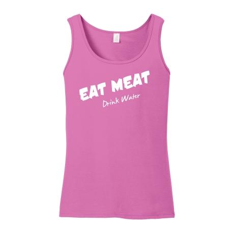 Eat Meat Drink Water Ladies Tank