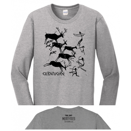 Carnivore Cave Painting Adult Long Sleeve